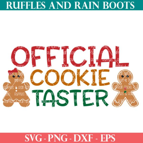 official cookie taster cut file for cricut or silhouette