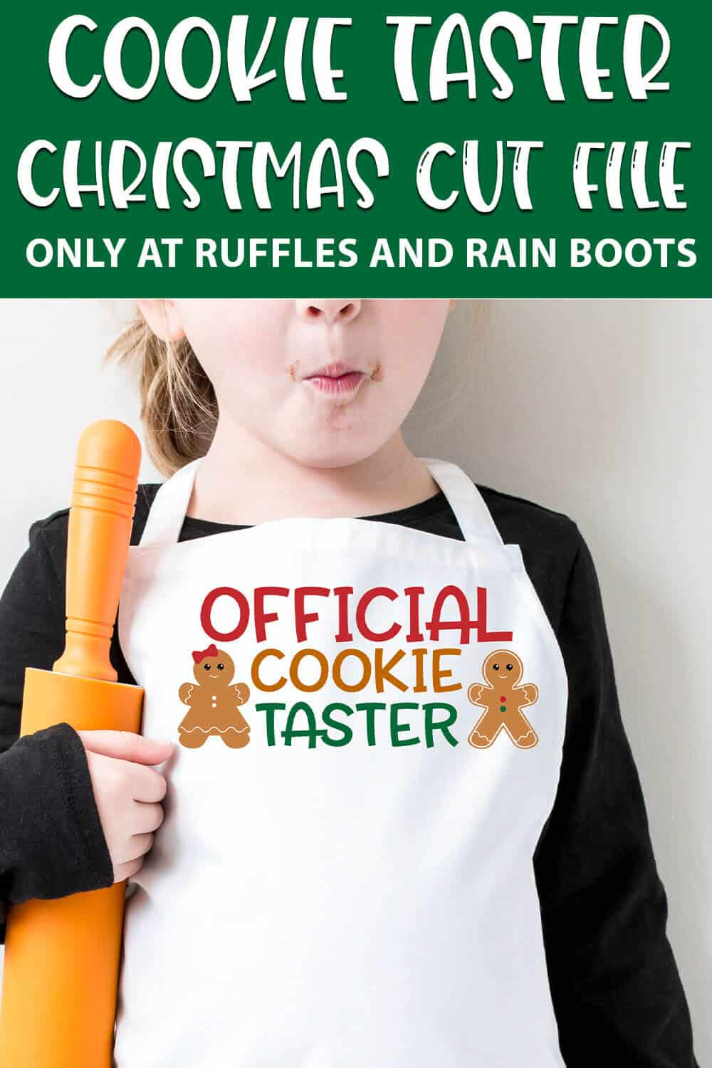 official cookie taster images For cutting machines with text which reads cookie taster christmas cut file