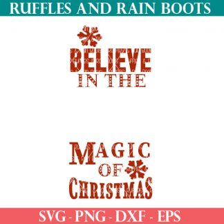 magic of christmas cut files set for cutting machines