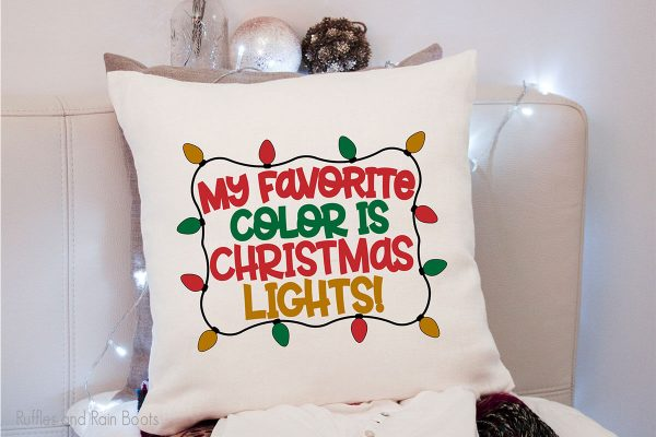 my favorite color is christmas lights SVG cut file set for cutting machines