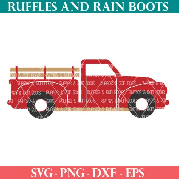 vintage christmas truck svg for cricut or silhouette