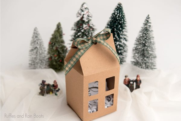 Gift Box paper craft house cut file set