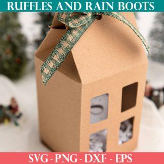 diy gift box house cut file set for cricut or silhouette