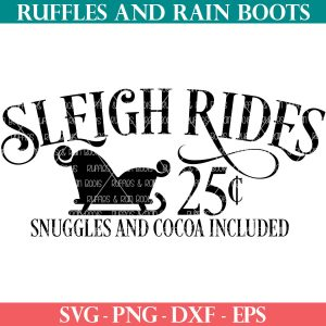 sleigh rides svg for christmas signs made on cricut