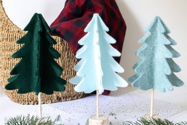 scandinavian christmas tree cut file set for cricut or silhouette