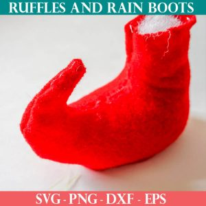 Standing Gnome elf shoe pattern