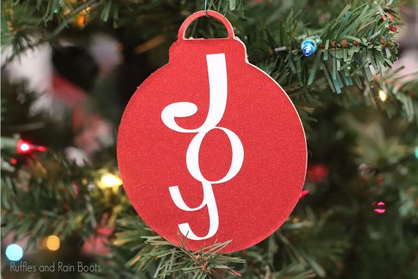 Joy ornament cut file set for cricut or silhouette