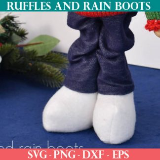 Winter Bootie gnome boot pattern