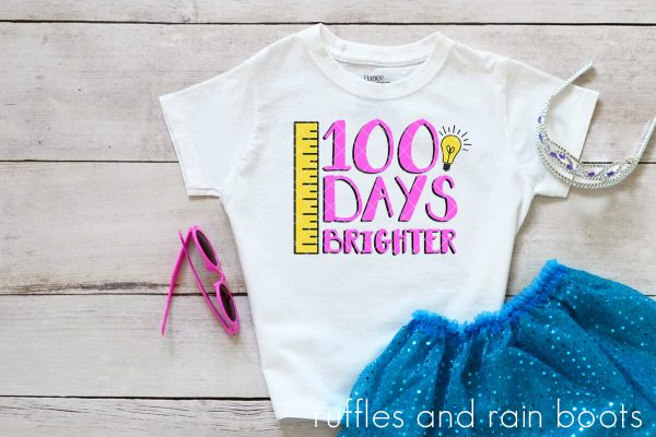 t shirt ideas for 100 days brighter svg