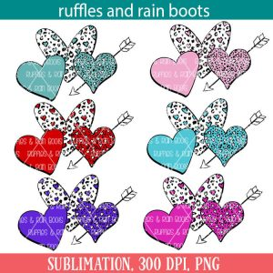 Valentines Heart Sublimation Image Set