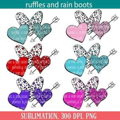 Valentines Heart Sublimation Image Set