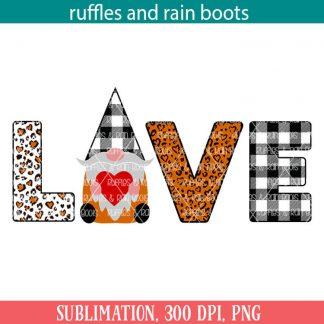 farmhouse gnome love sublimation file set