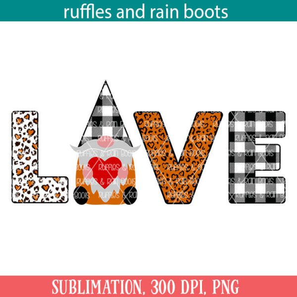 farmhouse gnome love sublimation file set