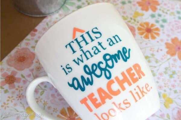 awesome teacher mug gift cut file set