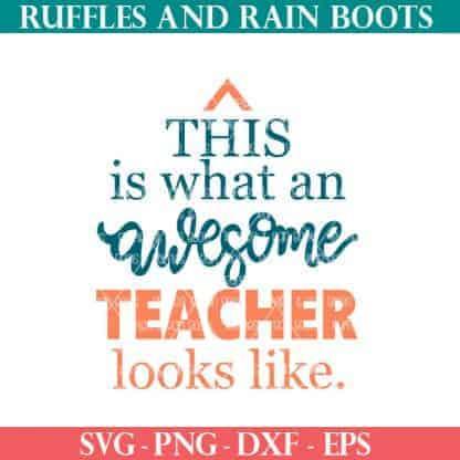 awesome teacher SVG file set