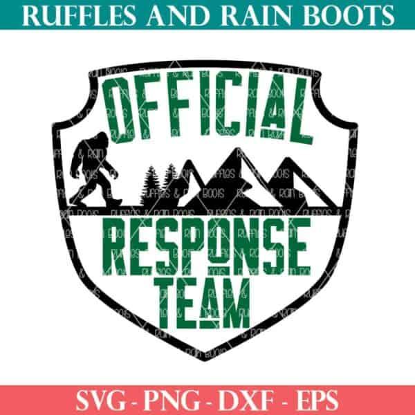 official response team big foot svg