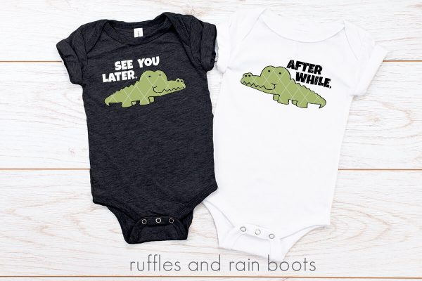 see you later alligator svg no offset design on body suits on white background