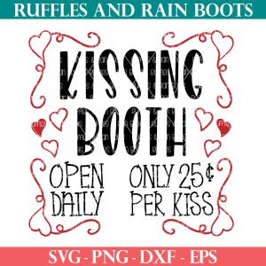 kissing booth svg for valentines day