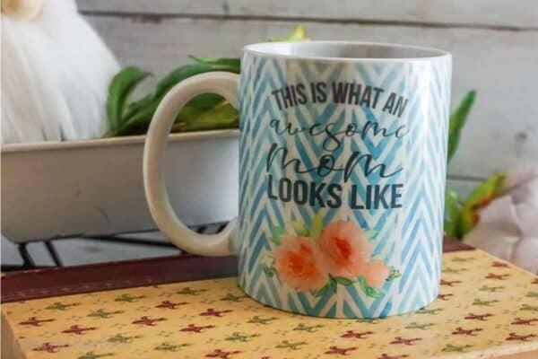 awesome mom mug sublimation file set