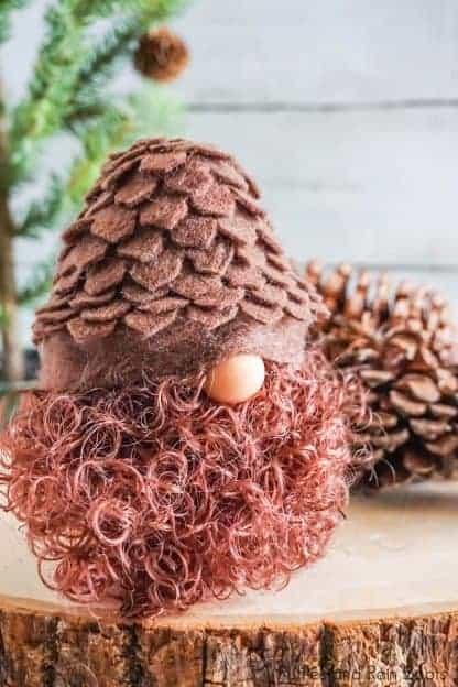 diy pine cone gnome pattern
