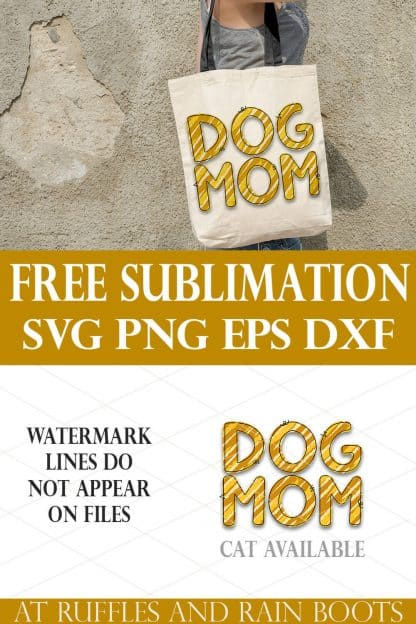 vertical collage of dog mom animal print free sublimation on tote bag