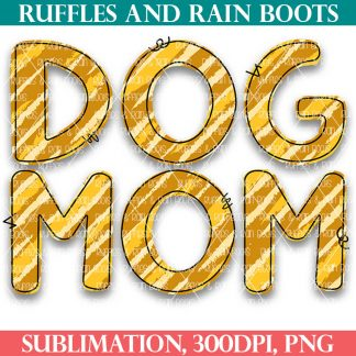 free sublimation n animal print for dog mom with outline from ruffles and rain boots