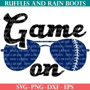 game on baseball svg in ruffles and rain boots shop