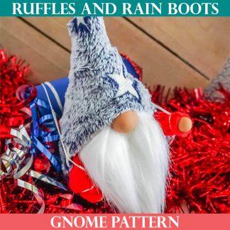 icelandic lovey gnome pattern ruffles and rain boots