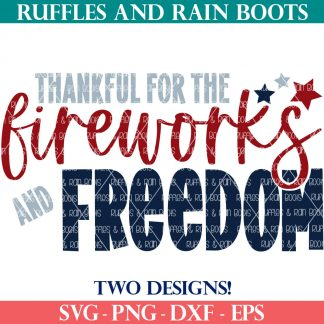fireworks and freedom svg set from ruffles and rain boots shop