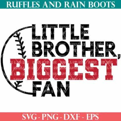 little brother baseball svg from ruffles and rain boots