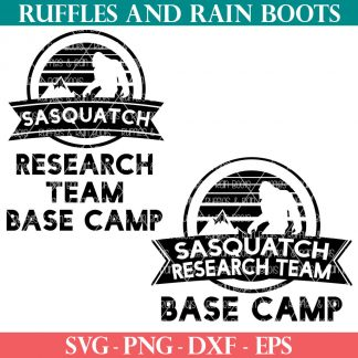 two sasquatch svg research team base camp from ruffles and rain boots