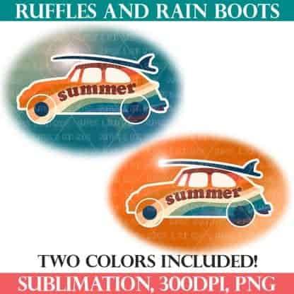 summer surf sublimations Ruffles