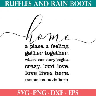 farmhouse home svg set from ruffles and rain boots