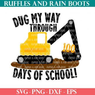 100 days of school construction cut file set