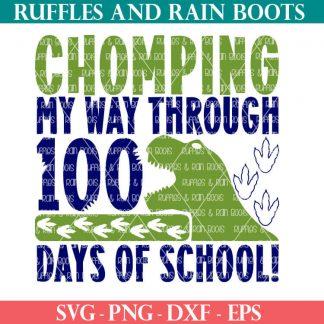 dinosaur 100 days of school cut file set