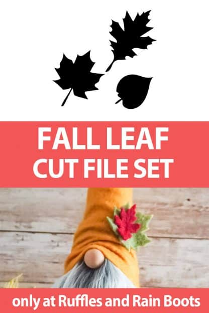 photo collage of leaf SVG set with text which reads fall leaf cut file set
