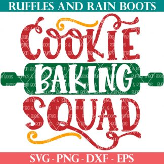 Cookie Baking Squad SVG for christmas