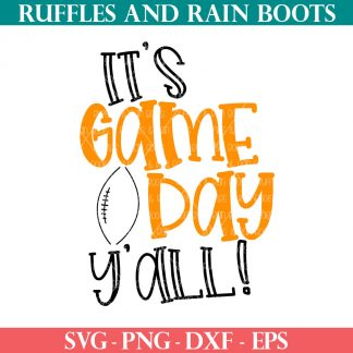 its game day yall svg for football fans from ruffles and rain boots for cricut maker explore joy and silhouette cameo machines