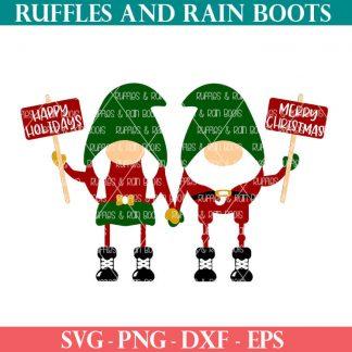primitive christmas gnome SVG set