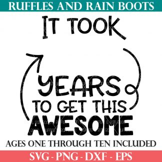it took years to get this awesome svg from ruffles and rain boots