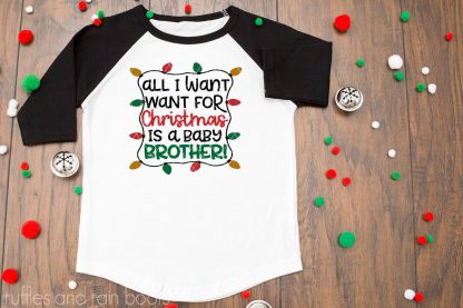 all i want for christmas brother svg holiday sibling christmas svg