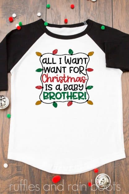 all i want for christmas brother svg holiday sibling