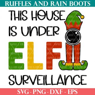 christmas sign svg house elf on shelf cut file