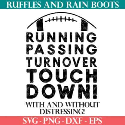 touchdown svg for football fans from ruffles and rain boots for cricut and silhouette cutting machines