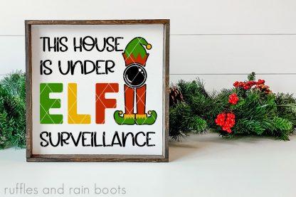 house under elf surveillance svg elf on shelf elf cut file set for cricut or silhouette