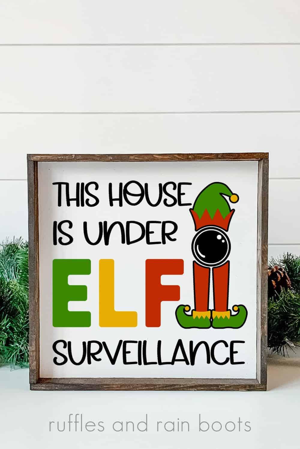 house under elf surveillance svg elf on shelf
