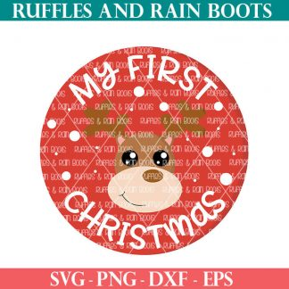 reindeer sublimation and SVG cut file set for cricut or silhouette