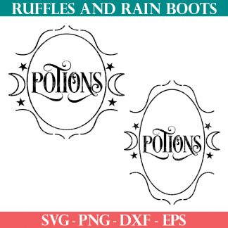 potions svg label set halloween svg from ruffles and rain boots