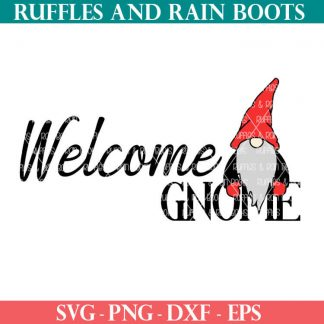 gnome doormat design for cricut or silhouette