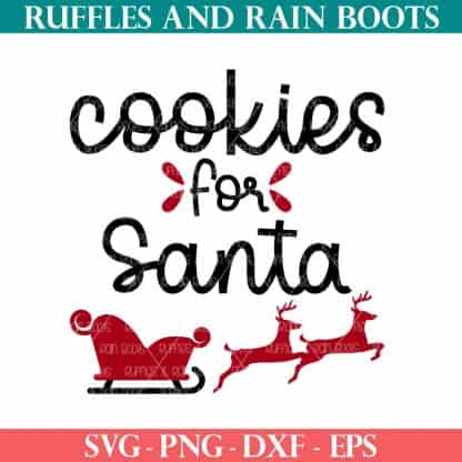 cookies for santa svg for christmas pot holder or apron from ruffles and rain boots